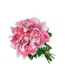 Buchet de mireasa hortensie roz