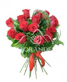 Buchet 15 trandafiri rosii de Ecuador