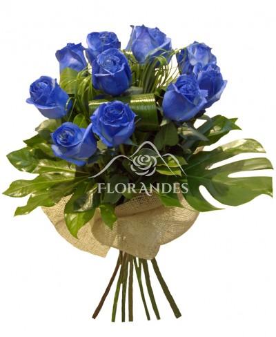 Buchet de trandafiri albastri