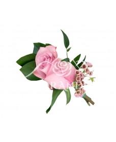 Cocarda trandafir si wax flower