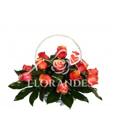 Cos 17 trandafiri