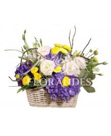 Cos hortensie si lisianthus