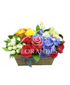 Cos trandafiri si hortensie