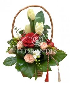 Cosulet trandafiri si frezii