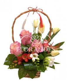 Cosulet trandafiri si lalele
