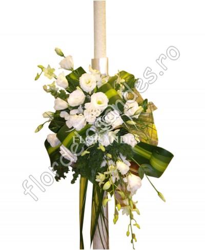 Lumanari de nunta din lisianthus