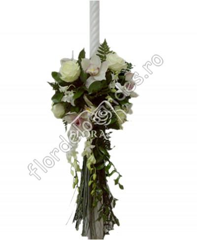 Lumanari de nunta din orhidee roz