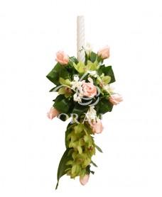 Lumanari de nunta din orhidee si trandafiri