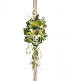 Lumanari de nunta cu orhidee verde
