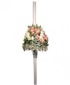 Lumanari de nunta minitrandafiri roz