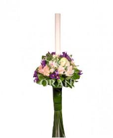 Lumanari de nunta orhidee si irisi