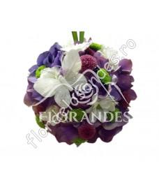 Aranjament sfera din hortensie