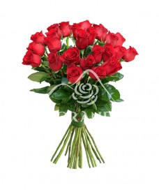 Buchet din 25 de trandafiri rosii