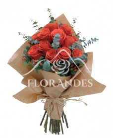 Buchet 21 trandafiri rosii